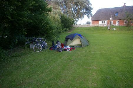 Campingplatz an der Dänisch-Deutschen Grenze nahe Rosenkranz