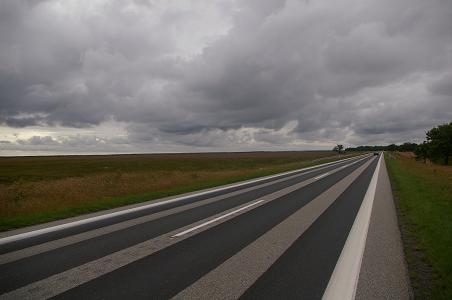 Straße von Fredriks nach Sikve