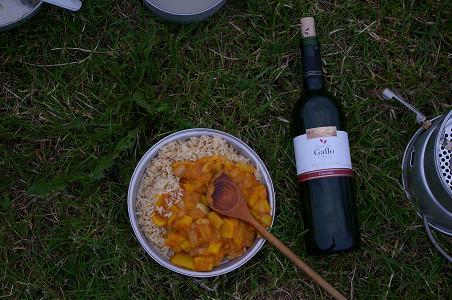 Abendessen mit Wein
