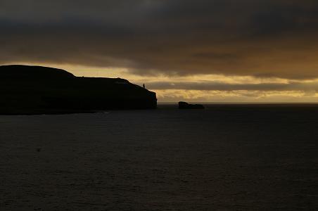 Sonnenuntergang vor Torshavn