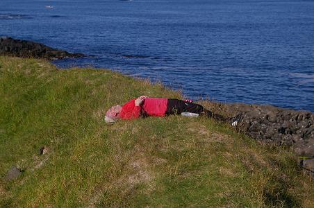 Auf dem Campingplatz in Torshavn