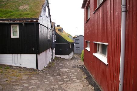 verwinkelte Gassen in Torshavn