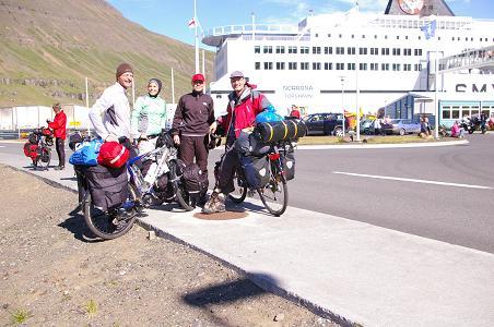Die Islandradler von der Norröna