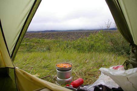 Zelten nahe dem Lagarfjólt