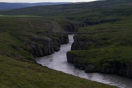 Brücke über den Jökulsá á Brú