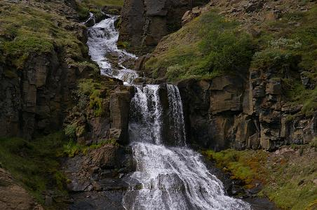 Wasserfall an der 1 Richtung Myvatn