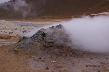 Solfatare im Gebiet Námaskarð