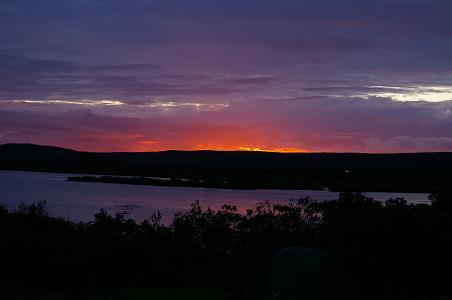 Sonnenuntergang am Mývatn