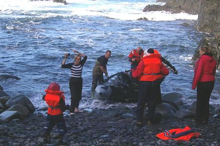 Ankunft in Látravík