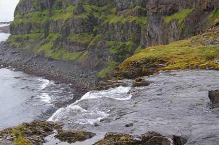 Der Wasserfall aus der Nähe