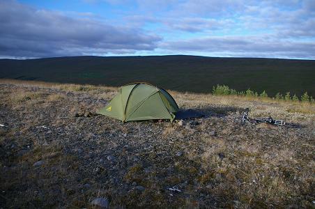 zelten nahe Eyvindarstaðir