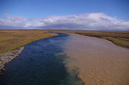 zusammenfließende Flüsse
