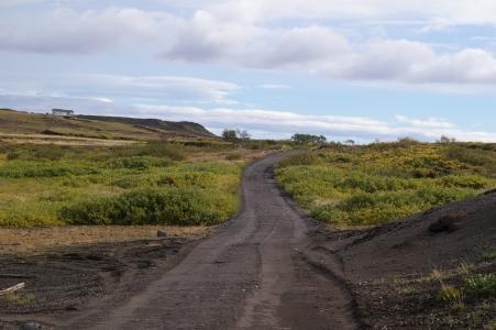 Die Straße Richtung Efri-Brú