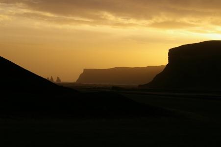 Sonnenuntergang bei Vík