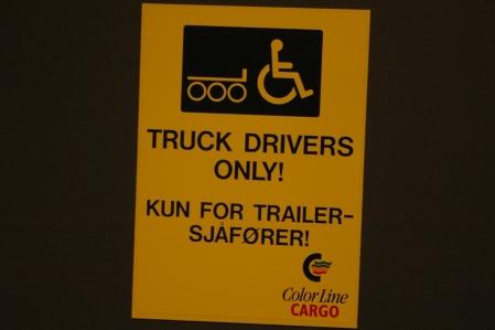 nur für LKW-Fahrer