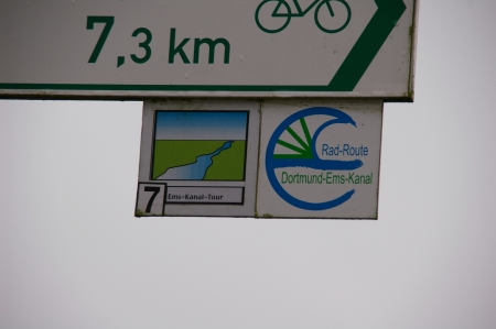 Radweg Dortmund-Ems-Kanal Wegweiser