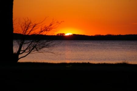 Sonnenuntergang am am Östra Ringsjön