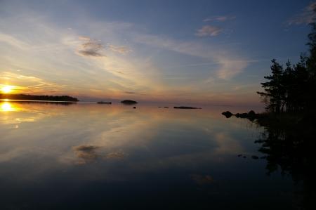 Sonnenuntergang am Vännern See