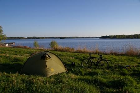 Zelten nahe Rudskoga