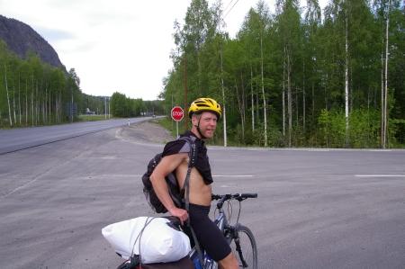 Johan nach ca. 670 km mit 2 Stunden Schlaf
