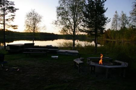 Feuerstelle am Badplatz bei Djäkneboda