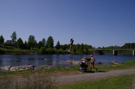 Sommer in Schweden und Badespaß im Fluß