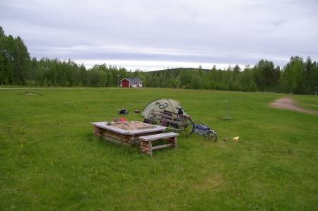 Meine Wiese in Svartbyn
