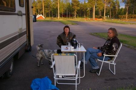 Alte Bekannte wiedergetroffen auf Pajala Camping