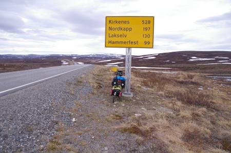 Noch 197 km bis zum Nordkap