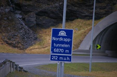 Nordkaptunnel: Es geht abwärts