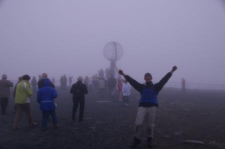 Jörg freut sich am Nordkap