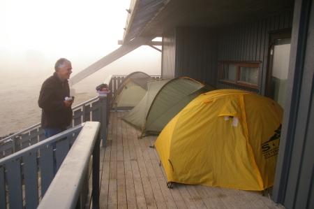 Windgeschützt campen