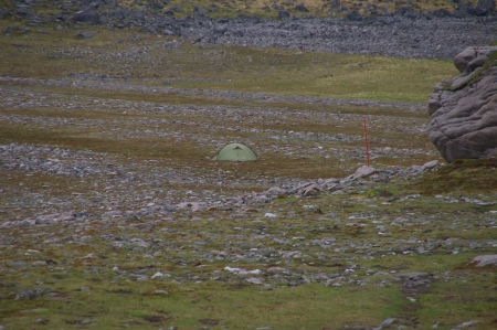 Mein Zelt nahe Knivskjellodden