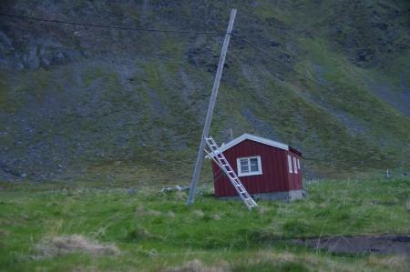 Strommasten in Kjelvik