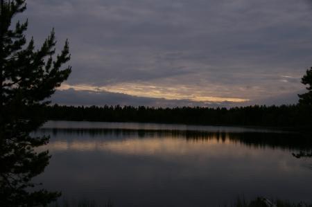 Abendstimmung am See bei Kaamanen