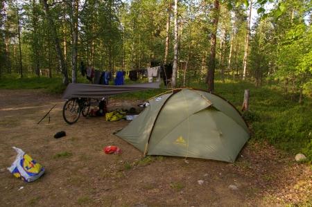 Zelten in Unkonjärvi