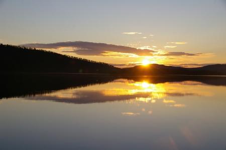 Sonnenumgang am Inarijärvi