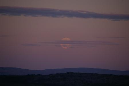 Der Mond über dem Varangerfjord