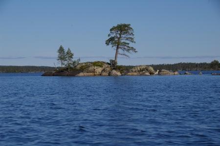 Insel auf dem Inarisee