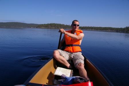 Paddeln auf dem Inarijärvi