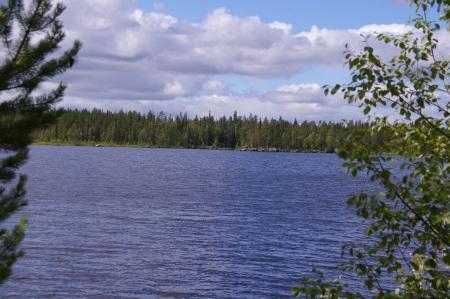 Aufwachen am Porttipahdantekojärvi