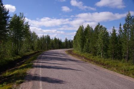 Kurz vor der Schwedischen Grenze