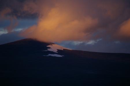 Berg Wolken Sonne