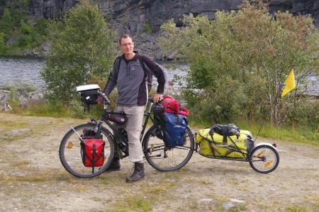 Jörg an der E10 Richtung Narvik