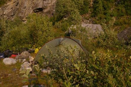 Zelten auf Senja