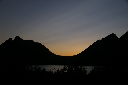 Sonnenuntergang auf Senja