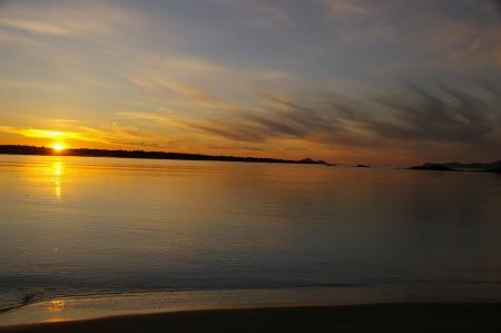Morfjorden am Abend