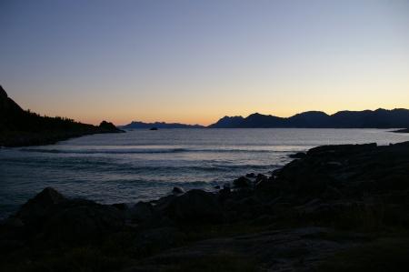 Sonnenuntergang bei Rørvika