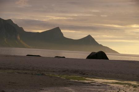 Sonnenuntergang an einem der 10 schönsten Strände Europas