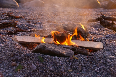 Lagerfeuer am Strand